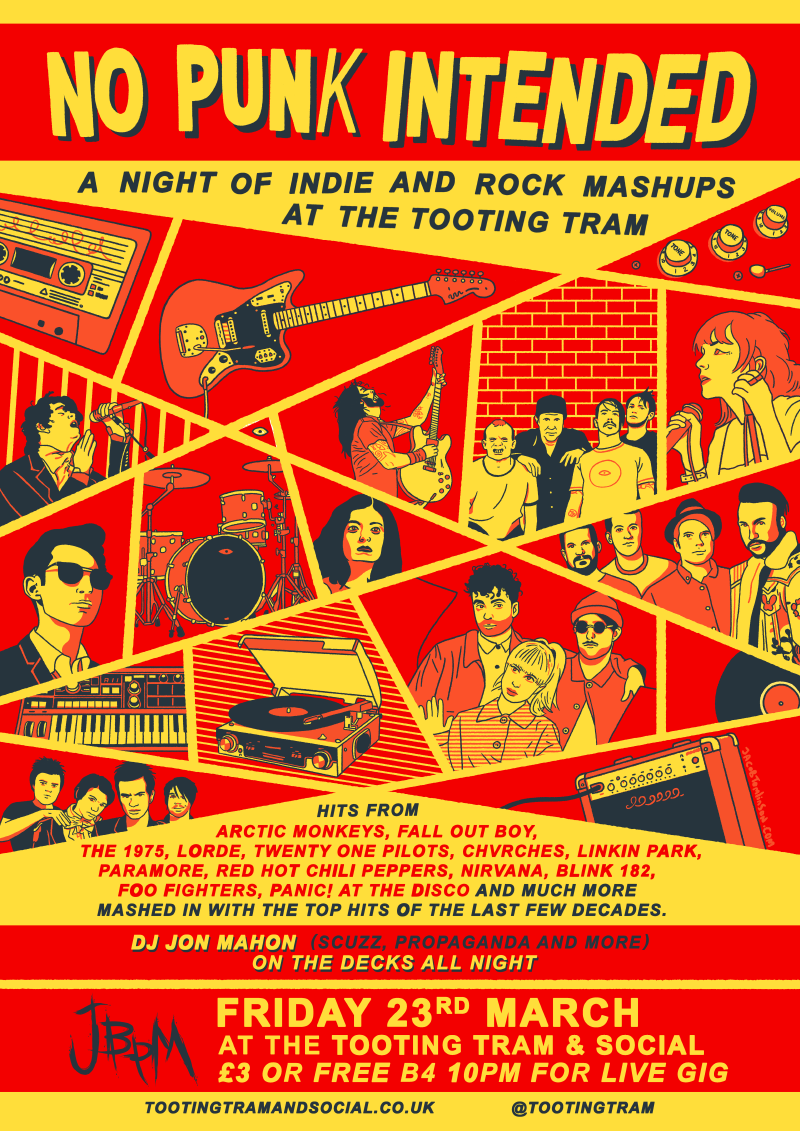 No Punk Intended / A night of indie and rock mashups (club night)