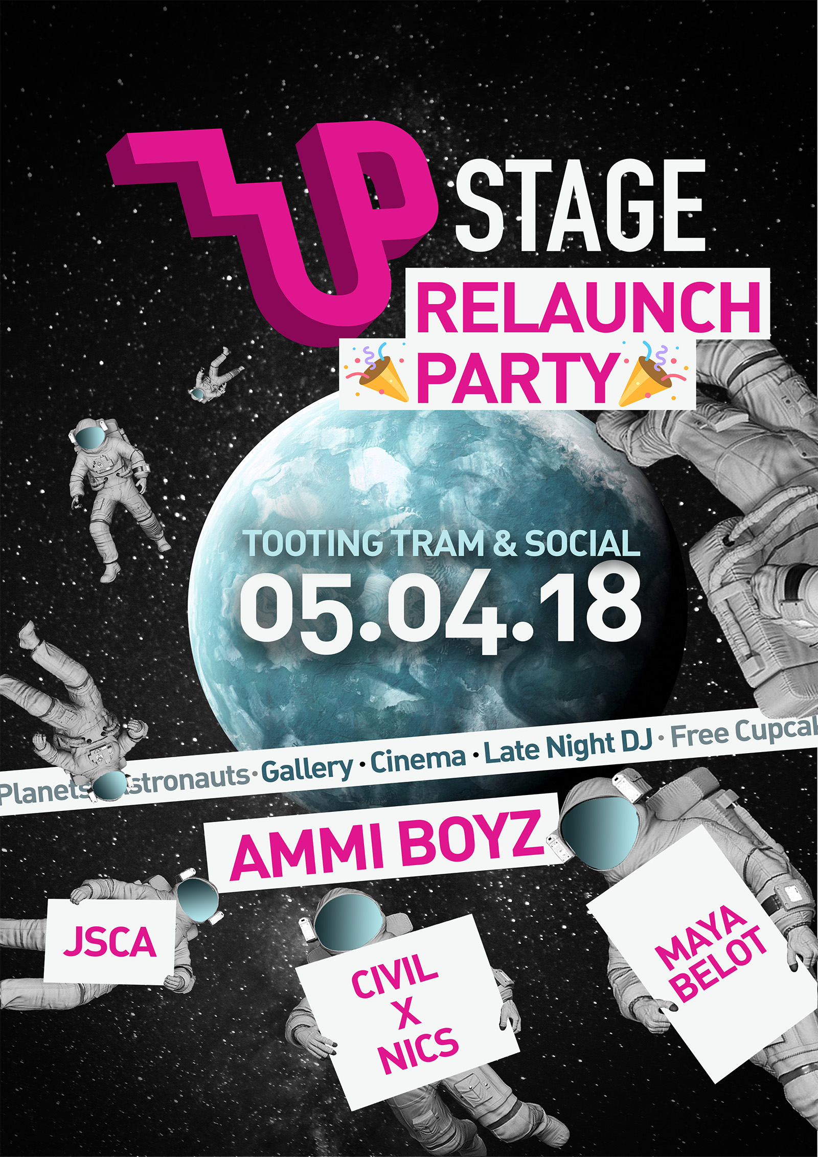 UPSTAGE: Relaunch Party