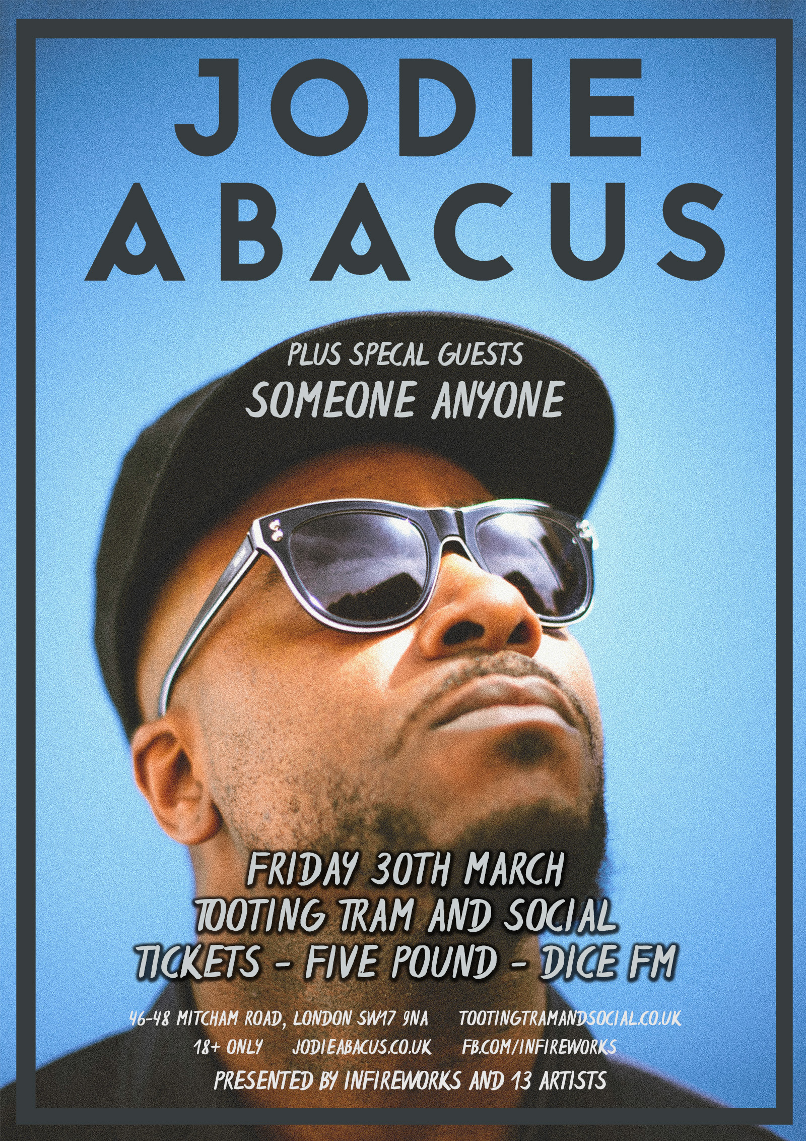 Good Friday: Jodie Abacus + SomeoneAnyone  / DJ Stace